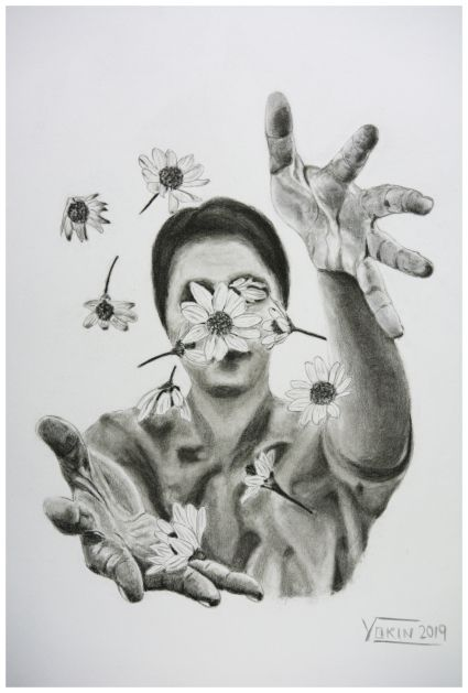 SPRING - Charcoal Painting by Yokin.