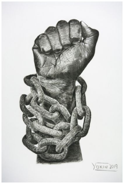FREEDOM - Charcoal Painting by Yokin.