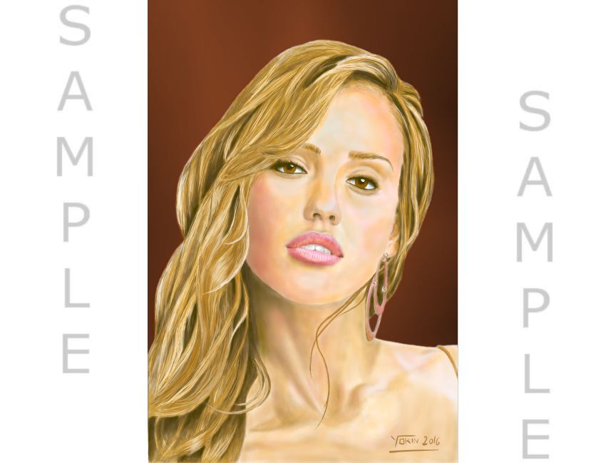 PORTRAIT DIGITAL PAINTING – figurative art beautiful, gift item, decor item, art item.