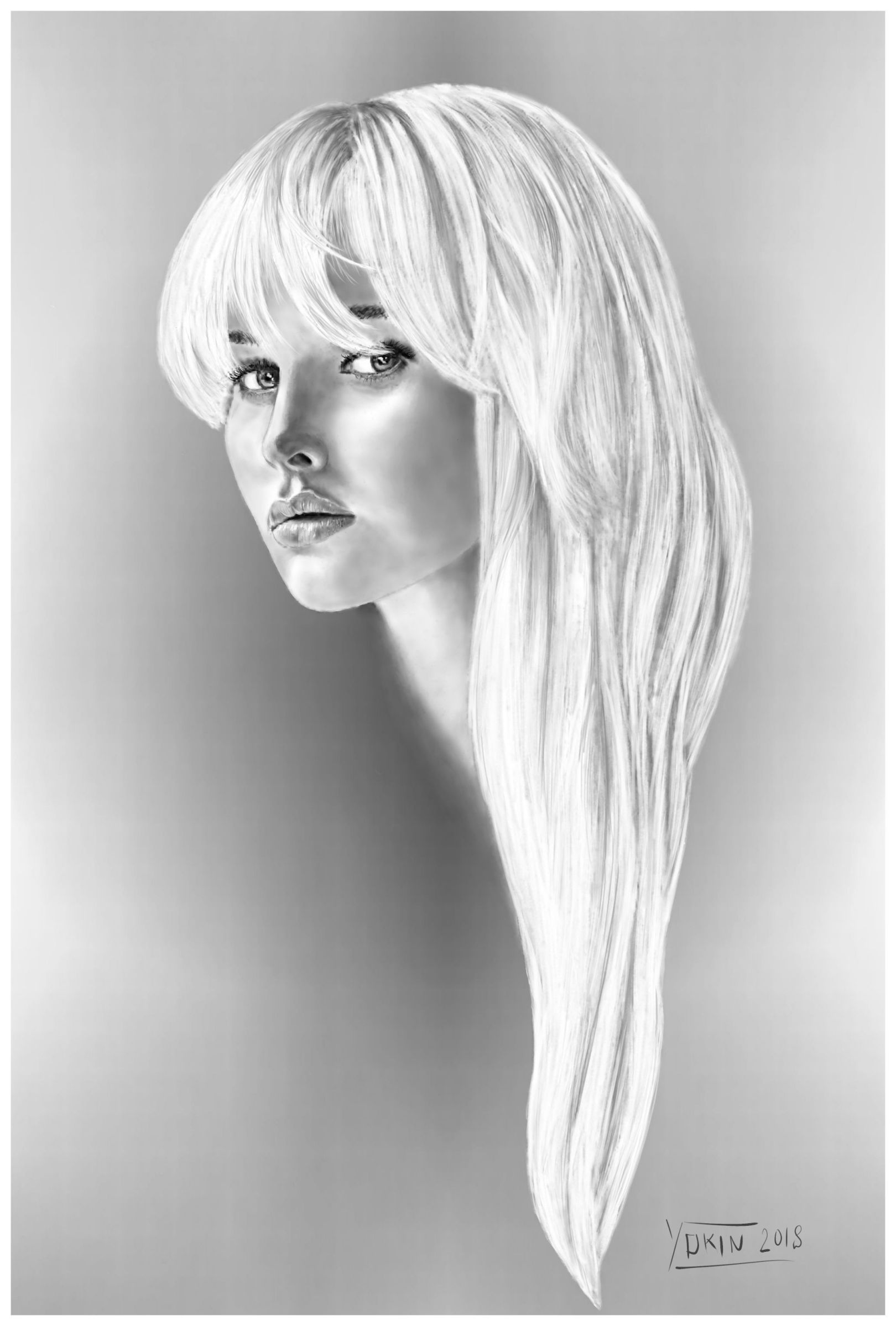 BLOND - Drawing by Yokin.