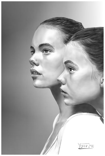 GIRLS - Drawing by Yokin.