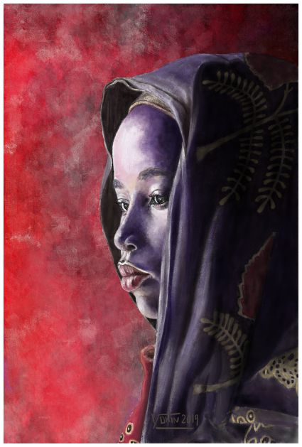 AFRIKA - Painting by Yokin.