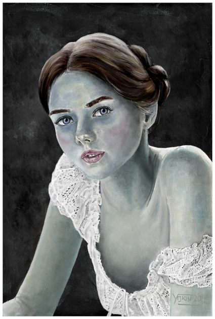 VIRIDIANA - Painting by Yokin.